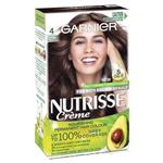 Garnier Nutrisse Permanent Hair Colour - 4 Tamarind Dark Brown (Enriched with 4 Natural Oils)