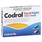 Codral Cold & Flu + Cough Day & Night 24 Capsules