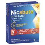 Nicabate Clear Patch Quit Smoking Step 3 7mg 7 Patches