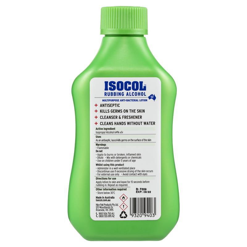 Buy Isocol Rubbing Alcohol 345mL Online at Chemist Warehouse®