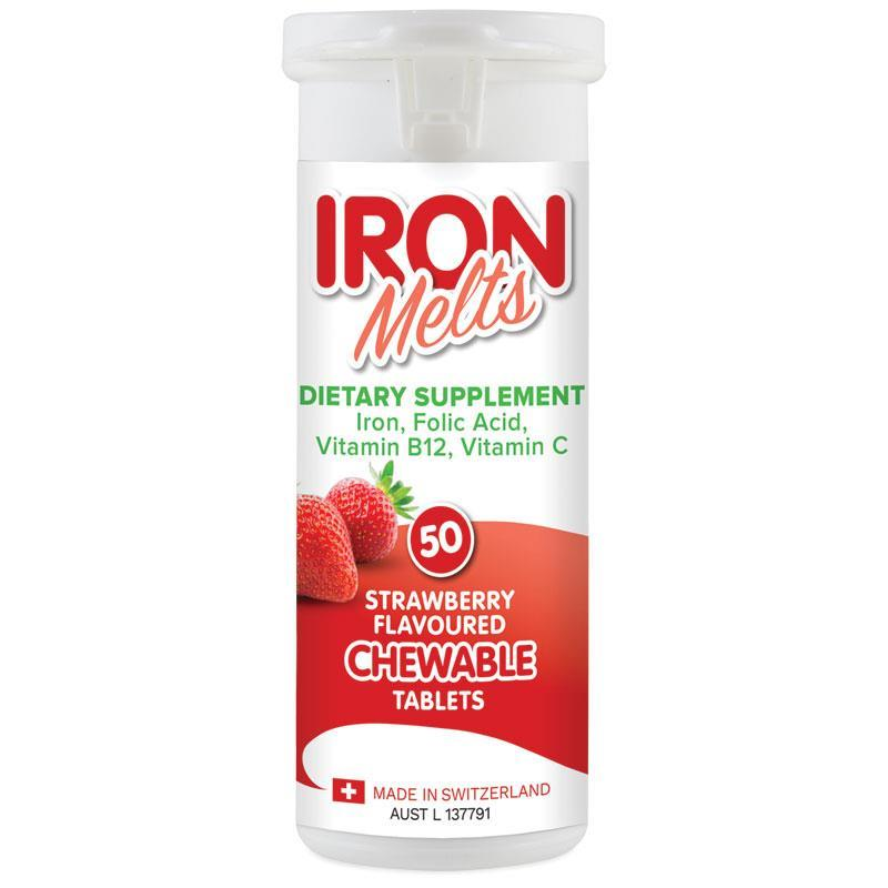 Buy Iron Melts 50 Chewable Tablets Online At Chemist Warehouse
