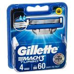 Gillette Mach3 Turbo Refill Blades 4 Pack