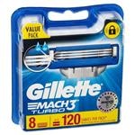 Gillette Mach3 Turbo Refill Blades 8 Pack