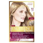 L'Oreal Paris Excellence Permanent Hair Colour - 8.1 Medium Ash Blonde (100% Grey Coverage)