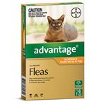 Advantage for Kittens & Cats up to 4kg 6 pack