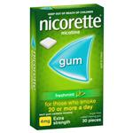 Nicorette Quit Smoking Extra Strength Fresh Mint Chewing Gum 4mg 30 Pieces