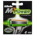 Gillette M3 Power Razor Refills 4 Pack