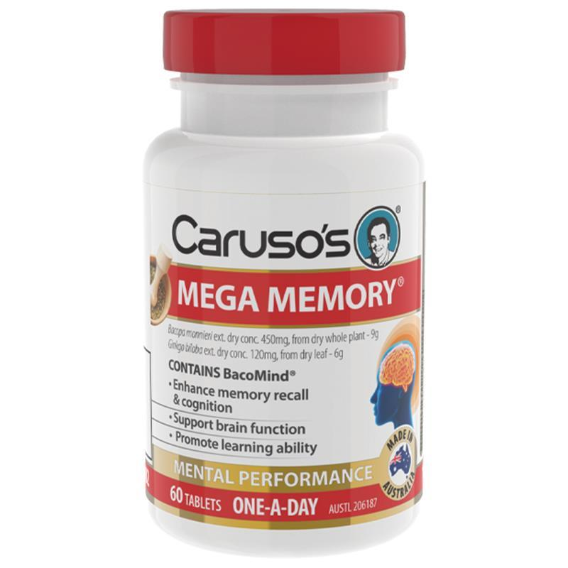 Carusos Natural Health Mega Memory Advance  Tablets