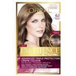 L'Oreal Paris Excellence Permanent Hair Colour - 6.1 Light Ash Brown (100% Grey Coverage)