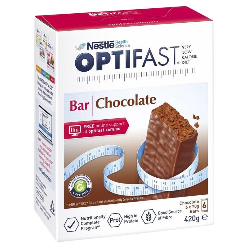 Buy Optifast Vlcd Bars Chocolate 6 Pack Online At Chemist Warehouse