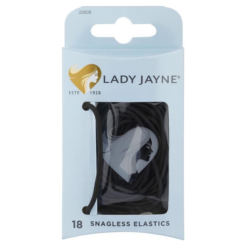 Lady Jayne Snagless Black Hair Elastics 18 Pack at Chemist Warehouse in Campbellfield, VIC | Tuggl