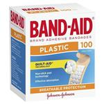 Band-Aid Plastic Strips 100 Pack