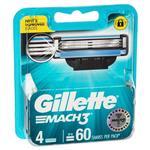 Gillette Mach3 Shaving Blades Refill 4 Pack