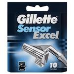 Gillette Sensor Excel Refill Shaving Cartridge Pack 10