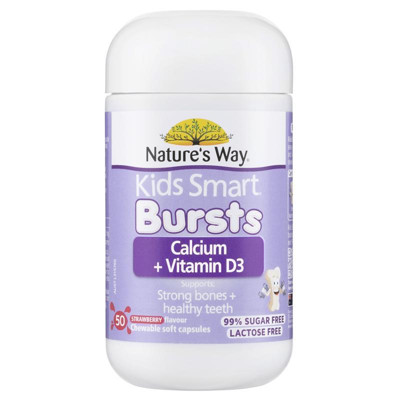calcium way vitamin nature smart chewable capsules strawberry milkshake chemistwarehouse warehouse chemist