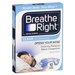 Breathe Right Clear Large Nasal Congestion Strips 10