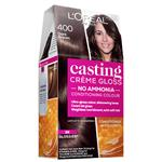 L'Oreal Paris Casting Creme Gloss Semi-Permanent Hair Colour - 400 Dark Brown (Ammonia Free)