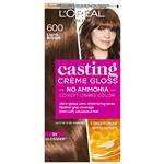 L'Oreal Paris Casting Creme Gloss Semi-Permanent Hair Colour - 600 Light Brown (Ammonia free)
