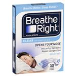 Breathe Right Clear Large Nasal Congestion Strips 30