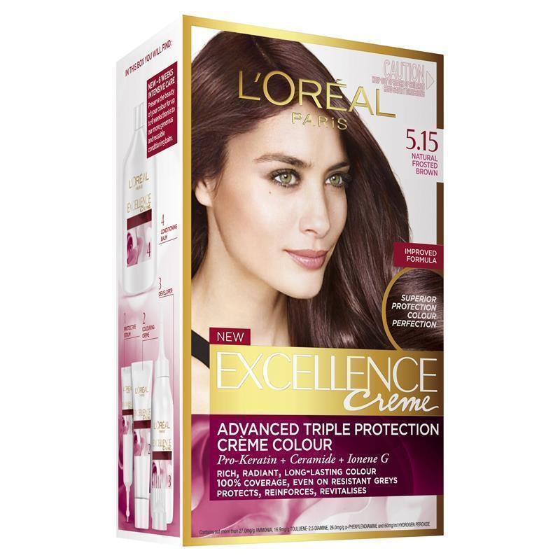 Buy Loreal Excellence Creme 515 Velvet Browns Natural Frosted