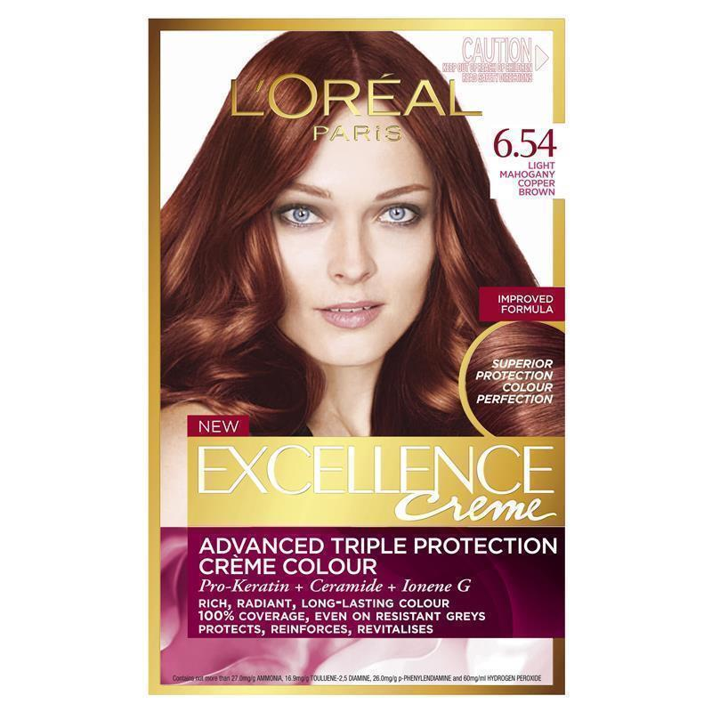 buy loreal excellence creme 654 light mahogany copper