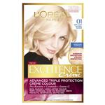 L'Oreal Paris Excellence Permanent Hair Colour - 01 Very Light Natural Blonde (100% Grey Coverage)