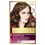 L'Oreal Paris Excellence Permanent Hair Colour - 4.3 Dark Golden Brown (100% Grey Coverage)