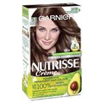 Garnier Nutrisse Permanent Hair Colour - 5 Chocolate Brown (Enriched with 4 Natural Oils)