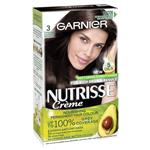Garnier Nutrisse Permanent Hair Colour - 3 Espresso Darkest Brown (Enriched with 4 Natural Oils)