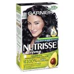 Garnier Nutrisse Permanent Hair Colour - 1 Liquorice Black (Enriched with 4 Natural Oils)