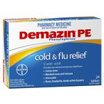 Demazin PE Cold & Flu Tablets 24