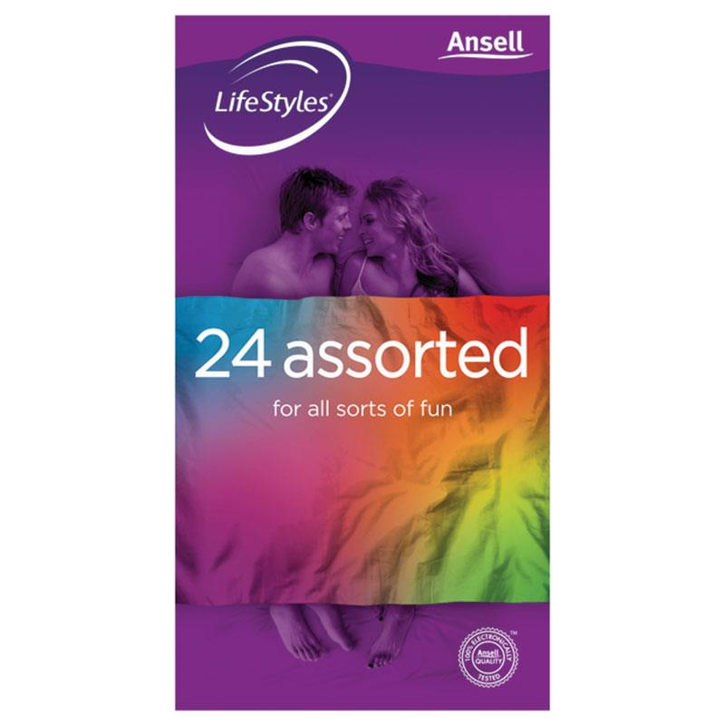 Buy Ansell Lifestyles Condoms Assorted 24 Pack Online at Chemist ...