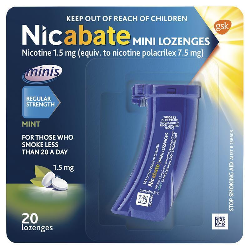 Nicabate Minis 1.5mg 20 at Chemist Warehouse in Campbellfield, VIC | Tuggl
