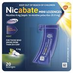 Nicabate Minis Quit Smoking Lozenge 4mg 20 pieces