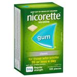 Nicorette Quit Smoking Regular Strength Classic Chewing Gum 2mg 105 Pieces