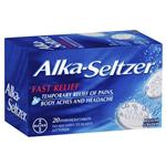 Alka-Seltzer Regular Effervescent 20 Tablets