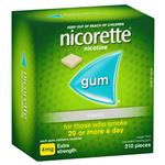 Nicorette Quit Smoking Extra Strength Uncoated Classic Chewing Gum 4mg 210 Pieces