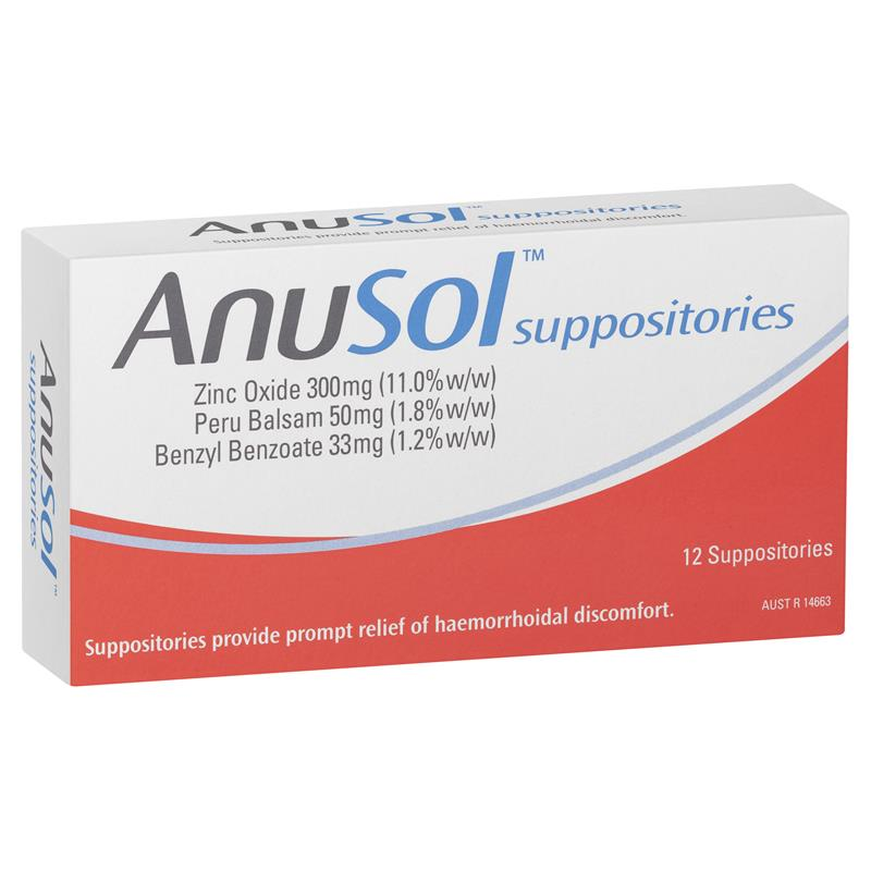 Buy Anusol Suppositories 12 Online at Chemist Warehouse®