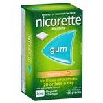 Nicorette Quit SmokingRegular Strength Fresh Fruit Chewing Gum 2mg 105 Pieces