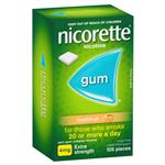 Nicorette Quit Smoking Extra Strength Fresh Fruit Chewing Gum 4mg 105 Pieces
