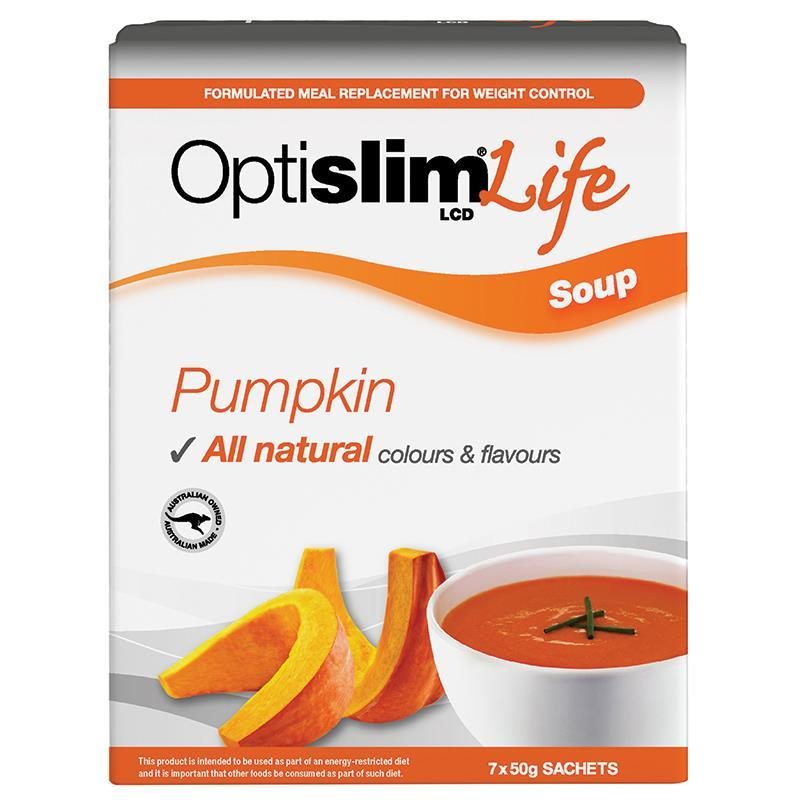 OptiSlim Life Soup Pumpkin 50g x 7 | Tuggl