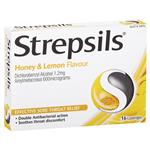 Strepsils Lozenges Honey & Lemon 16