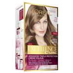 L'Oreal Paris Excellence Permanent Hair Colour - 7.1 Dark Ash Blonde (100% Grey Coverage)