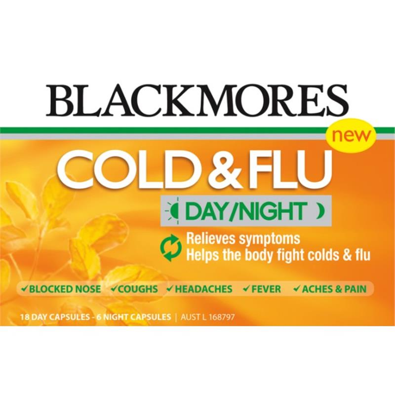 Buy Blackmores Cold & Flu Day/Night 18+6 Capsules Online