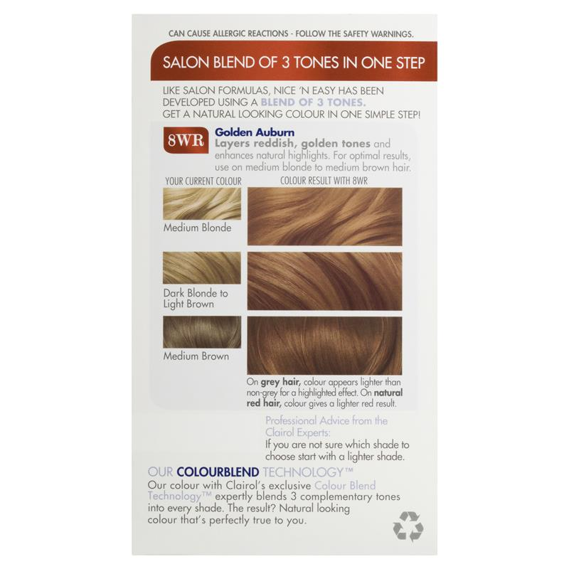 Buy Clairol Nice Easy 108 Natural Gold Auburn Online At Chemist