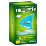 Nicorette Quit Smoking Extra Strength Icy Mint Chewing Gum 4mg 105 Pieces