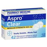 Aspro Clear Pain Relief 42 Soluble Tablets