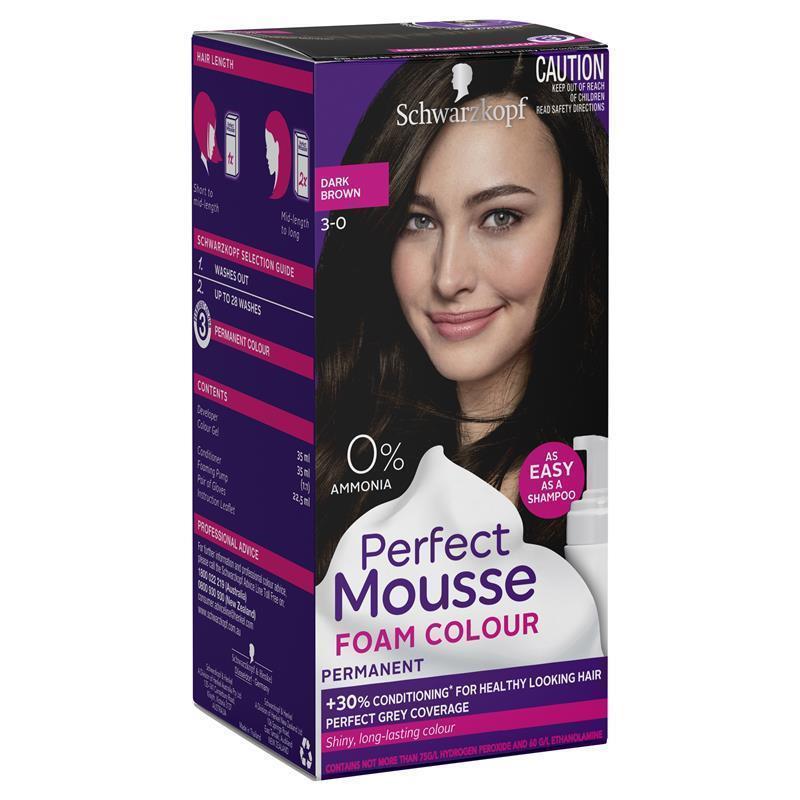 Buy Schwarzkopf Perfect Mousse 3 0 Dark Brown Online At Chemist