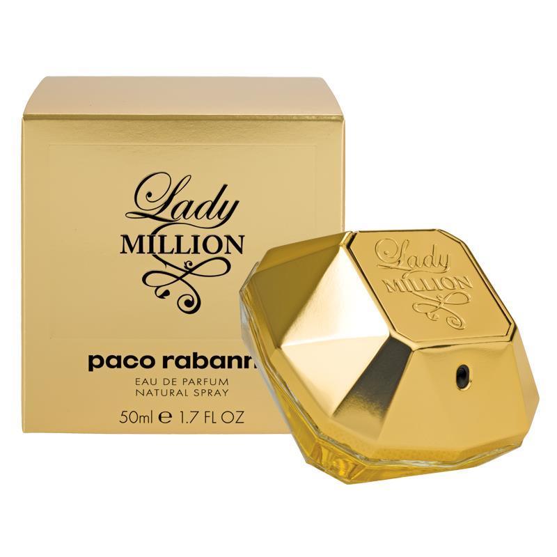 buy paco rabanne lady million eau de parfum 50ml online at. Black Bedroom Furniture Sets. Home Design Ideas