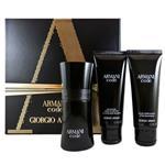 Armani Black Code for Men 50ml Eau De Toilette 3 Piece Set